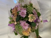 pastel seasonal posy